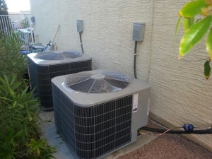 Two Carrier condensers